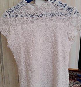 Школьная форма блузка ажурная с короткими рукавами