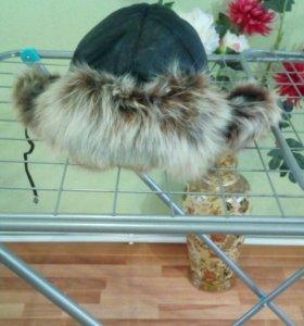 Натуральная шапка-ушанка женская торг