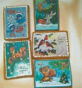 Имбирные пряничные открытки на любой праздник!!!