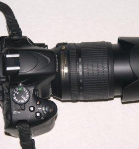 Nikon D5100 с объективом Nikon AFS DX 18-105 ED VR