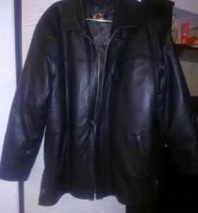 Куртка кожаная на подкладе