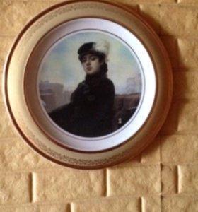 Картина на тарелке