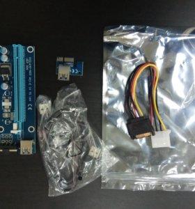 Райзер PCI-E 1x16x USB 3.0 Riser ver 006