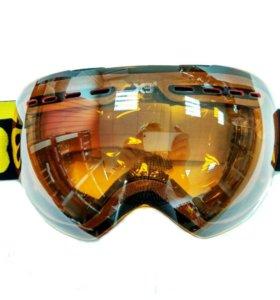 Очки (маска) X3 для снегохода, сноуборда, желтые