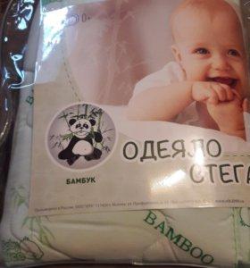 Новое детское одеяло стеганое, размер 105х140