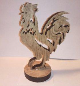 петух деревянный подарок к новому году