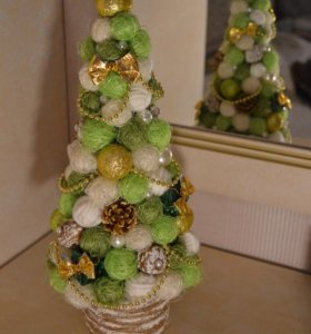Новогодняя елка. Топиарий. Подарок