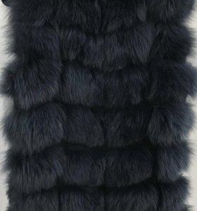 Меховая жилетка песец 70 см