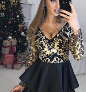 Золотое кружево платье ✨😍🔥