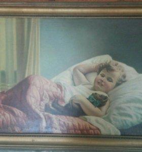 Картина маслом неизвестного художника