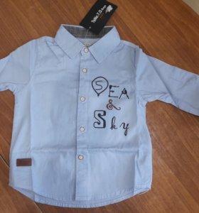 Новая стильная рубашка р.98