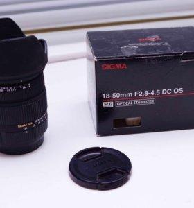 Объектив Sigma 18-50 f/2.8-4.5 DC OS