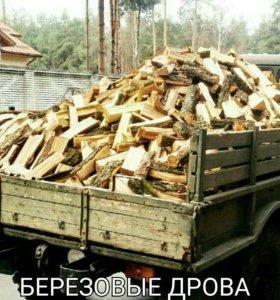 Полная газель березовых дров с доставкой