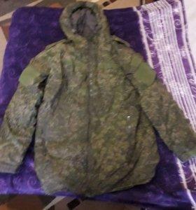 Зимняя комуфляжная военная куртка