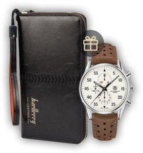 Мужское портмоне Baellerry и часы
