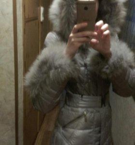Пуховик зимний длинный