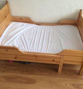 Раздвижная кровать с матрасом