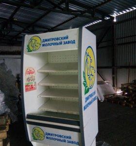 3 Холодильная витрина горка Б/У 1,1 метра