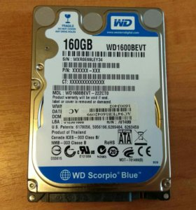 160 Гб. жесткий диск для ноутбука