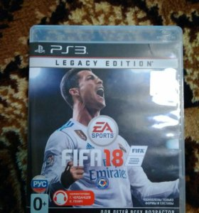 Диск Fifa18 ps3