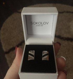 Серебряные запонки Sokolov