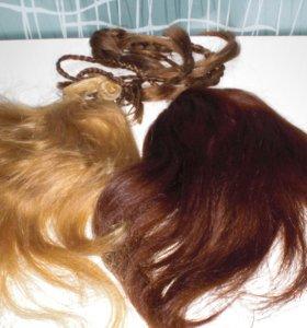 Два шиньона(натуральный волос)