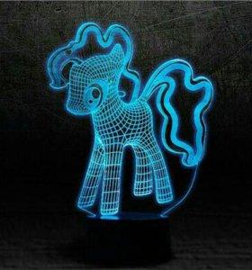 Отдельная пластина для 3D светильников