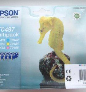 Комплект картриджей Epson C13T04874010, все цвета