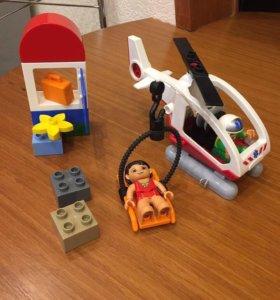 Лего Дупло Санитарный вертолёт,без упаковки