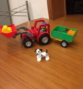 Лего Дупло трактор с долматинцем без упаковки