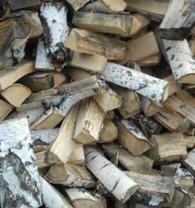 Сухие березовые дрова колотые с доставкой японским