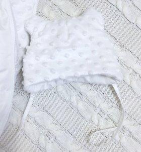 Новые вещи для девочки .зимняя шапочка двухсторонн