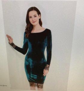 Платье цвета изумруд!