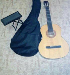 Гитара чехол подножка