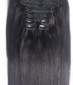 Волосы на заколках