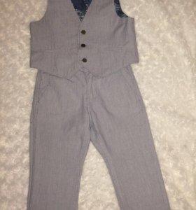 Детский костюм(жилетка+брюки)