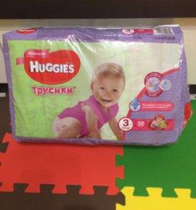 Подгузники-трусики Huggies для девочек