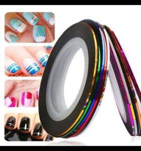 ленты для дизайна ногтей 32шт