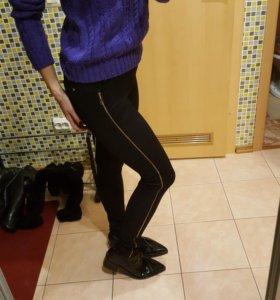 Новые брюки стрейч утепленные 42-44