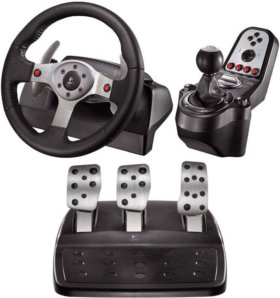 Logitech G25 Racing Wheel на ПК и PS3