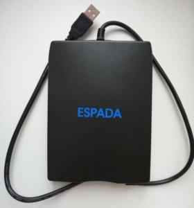 Внешний Дисковод для дискет 3,2, с USB кабелем нов