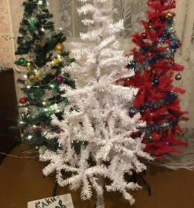 Ель БЕЛАЯ - искусственная елка на 1,5 метра новая