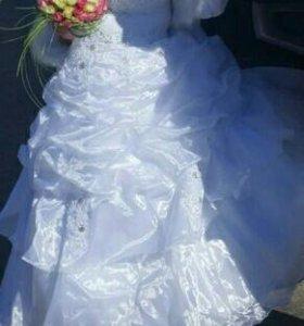 Свадебное платье + шубка