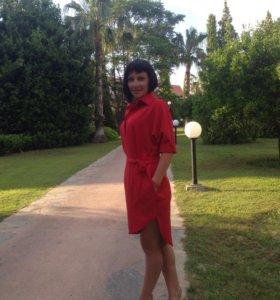 Платье красное 42-46