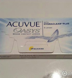 ACUVUE, Oasys. With Hydraclear plus.