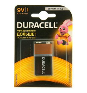 Батарейка дюрасел 9v