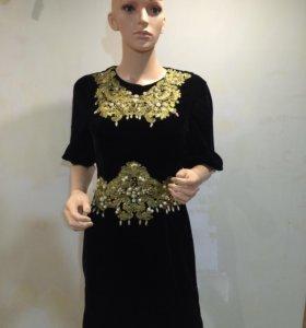 Новое платье Италия велюр