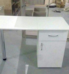Стол для маникюра складной с выдвижным ящиком