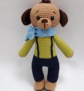Вязаная игрушка амигуруми Собака