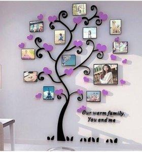 Семейное дерево из фоторамок